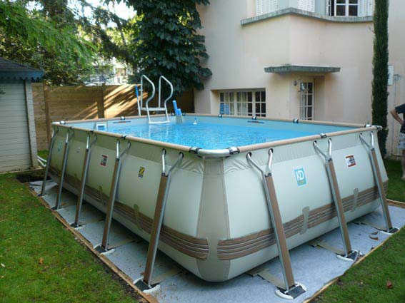 Piscine hors sol installation aquadouce services for Piscine demontable rectangulaire